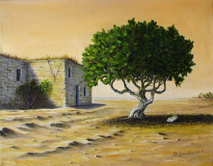Фисташковое дерево Холст, масло 35х45см