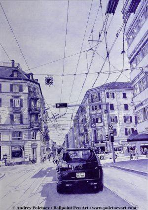 European Tour -Series-Ballpoint Pen Poletaev Art