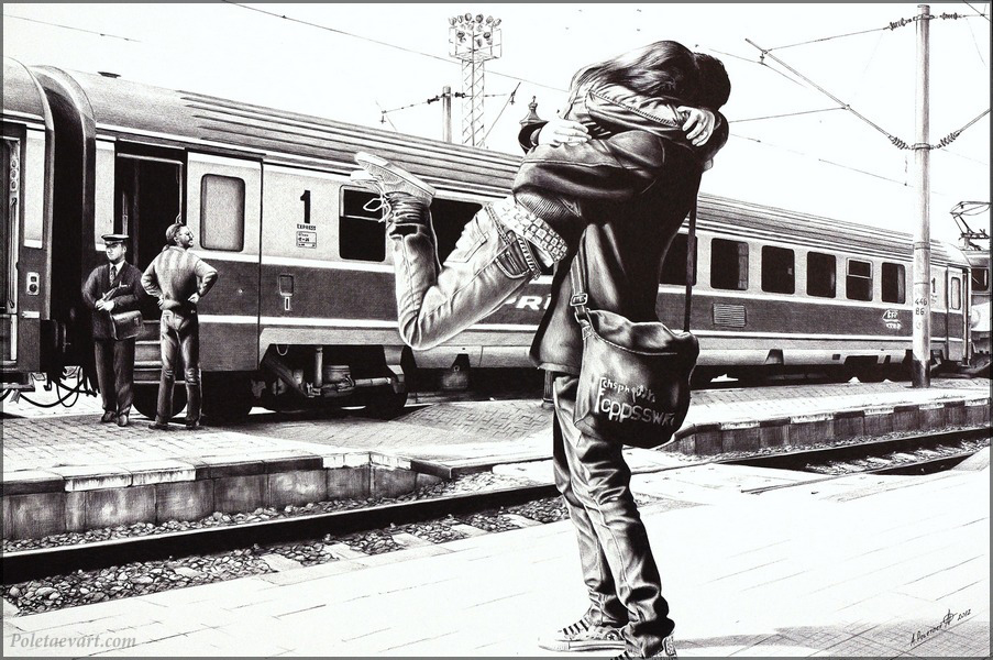 ballpoint_pen_drawing_poletaev_art_sparkle_at_the_train_station
