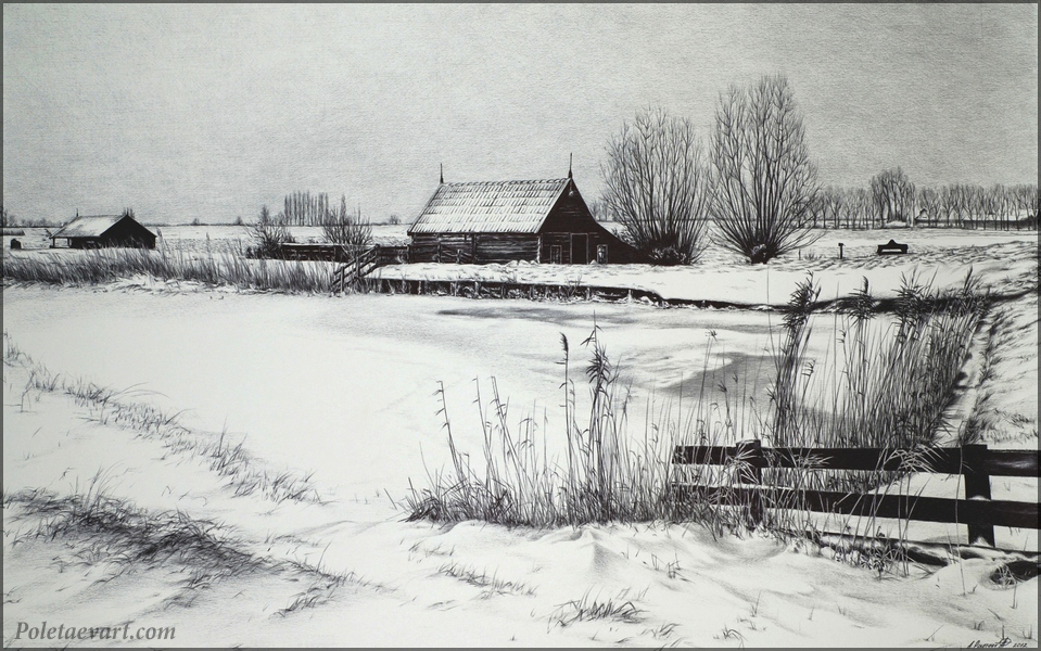 ballpoint_pen_drawing_poletaev_art_winter