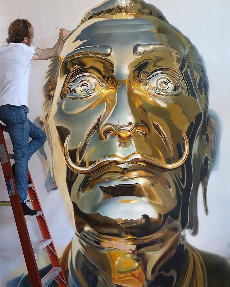 картина пикассо в золоте современное искусство