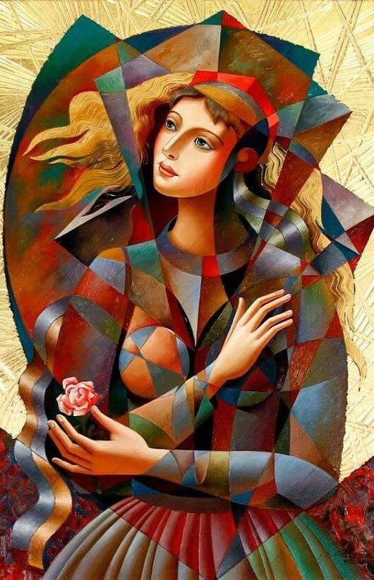картина современное искусство девушка