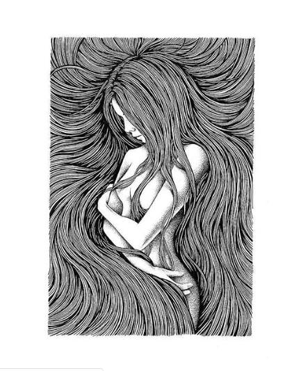 иллюстрация девушка картина карандашом современное искусство скетч тияго бьянчини