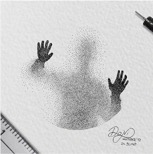 пуантилизм картина современное искусство руки деджвид кнезевич