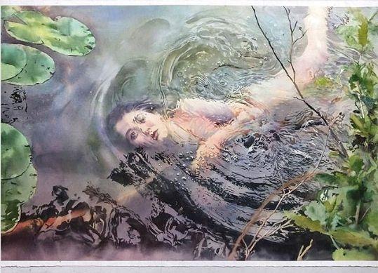 акварель картина выполнена акварелью художник маркос беккари