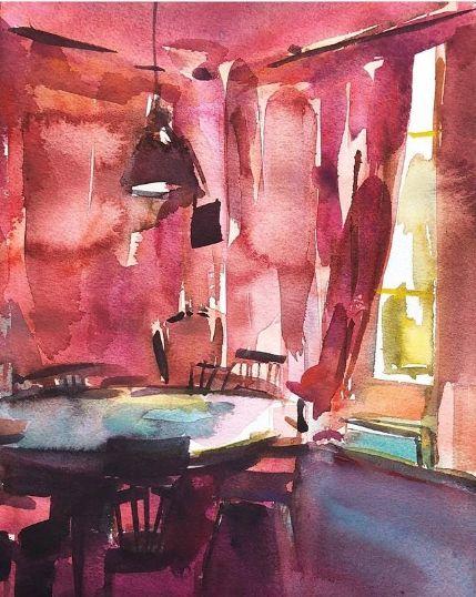 акварель картина выполнена акварелью художник екатерина попова