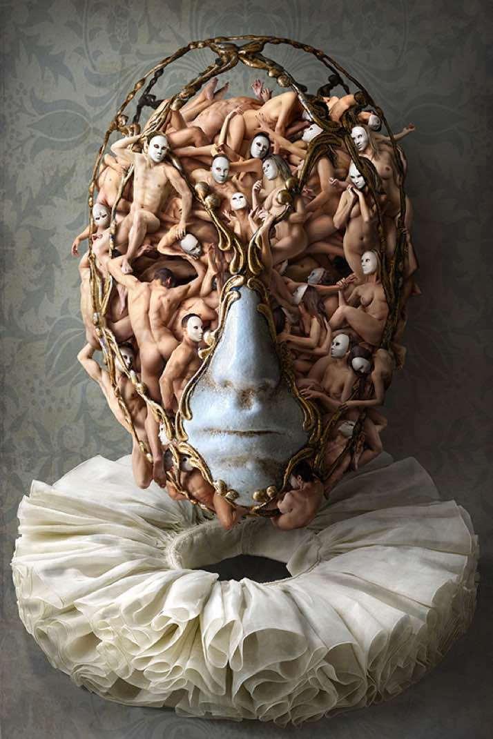 маска из человеческих тел современное искусство фотография ddiarte