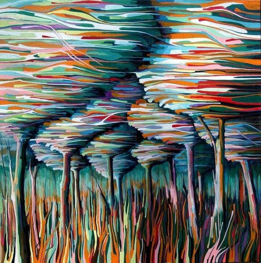 пейзаж картина современное искусство экспрессионизм