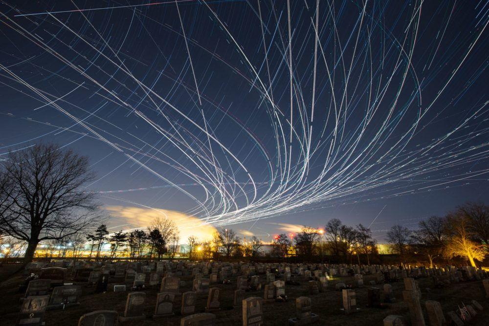 Современный фотограф Пит Мауни. Красивое ночное небо